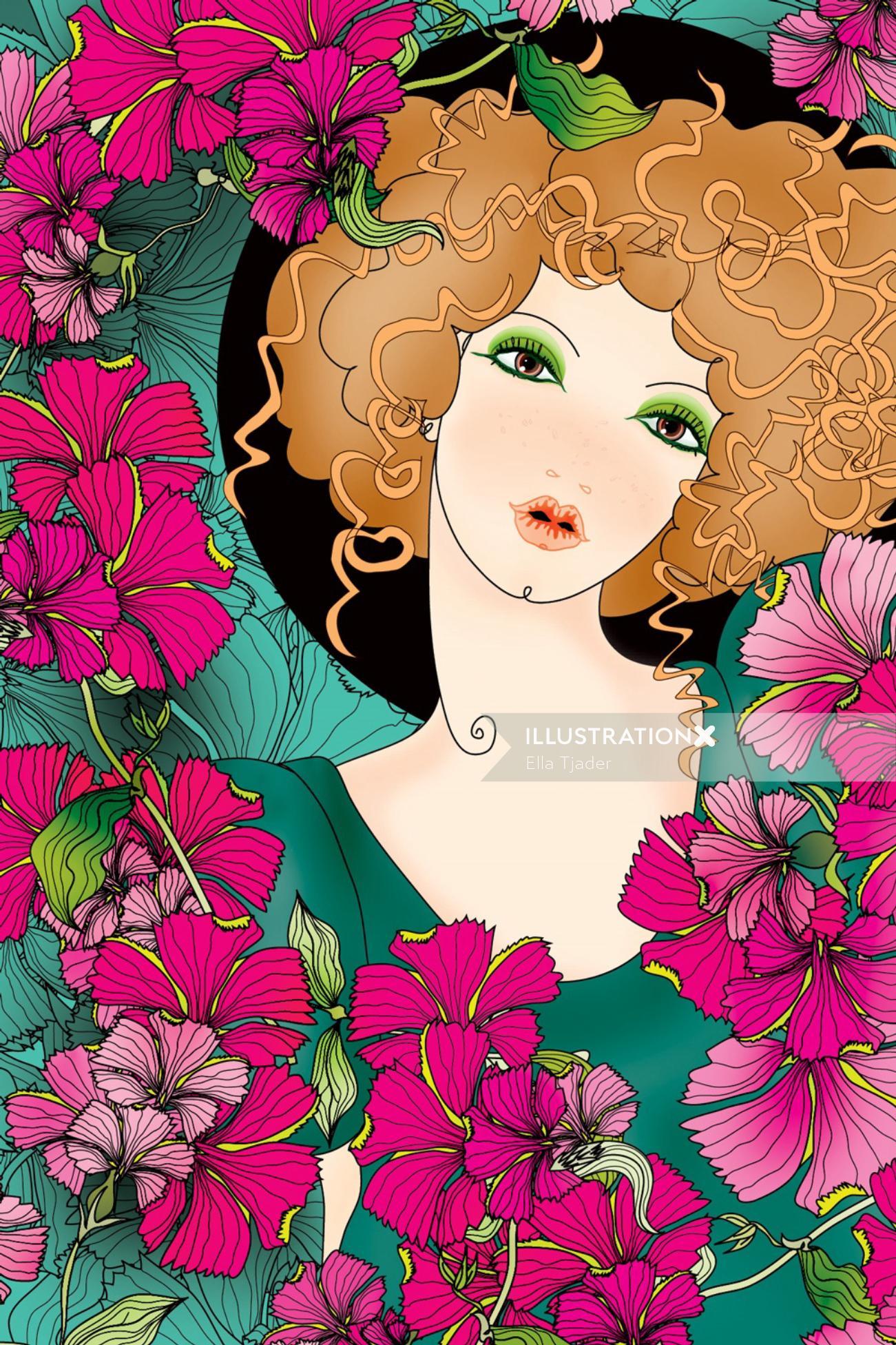 Illustration of a female