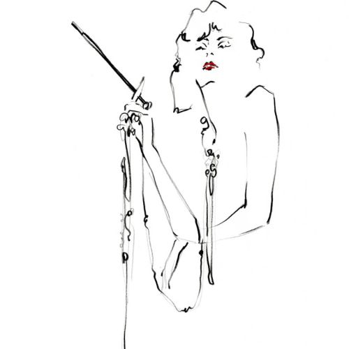 Live Drawing of Model smoking