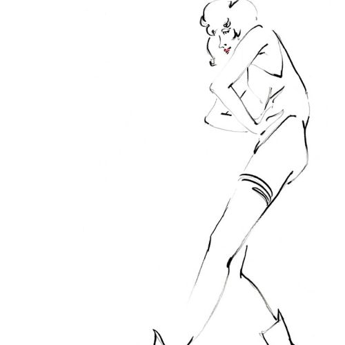 Live Drawing of Standing Model