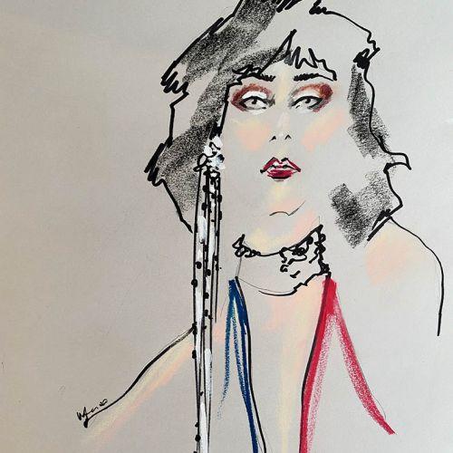 Live Drawing of Model Portrait