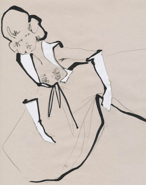 Live Drawing model with long frock
