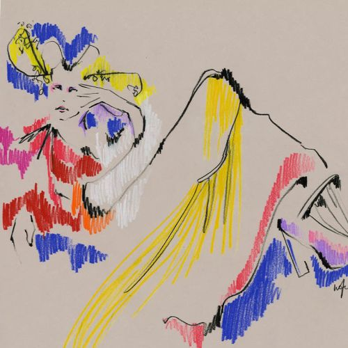 Live Drawing Model Colorful art