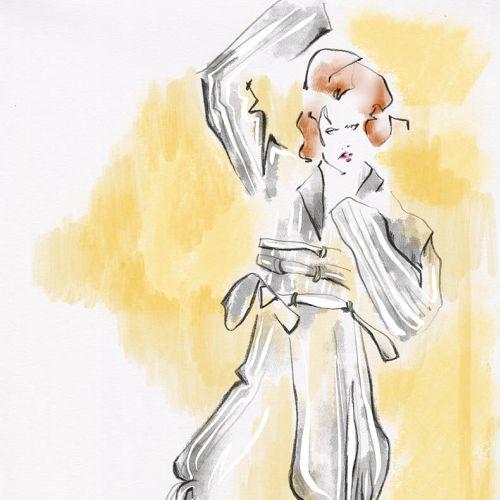 Live Drawing of stylish woman