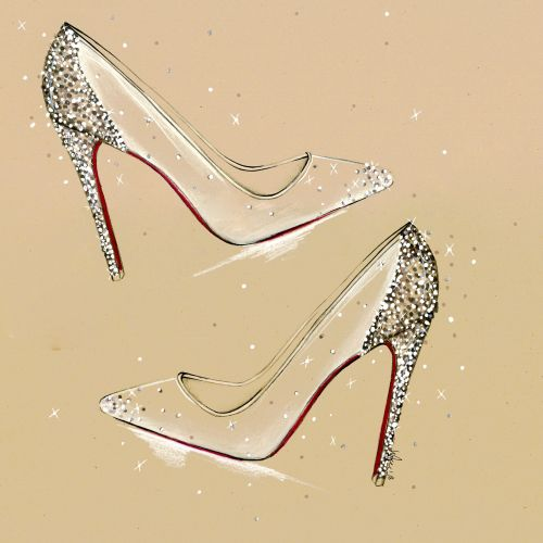 Live Drawing stylish heels