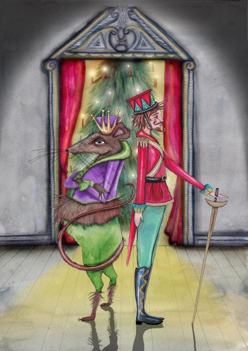 Conception de personnage de guerrier homme et rat