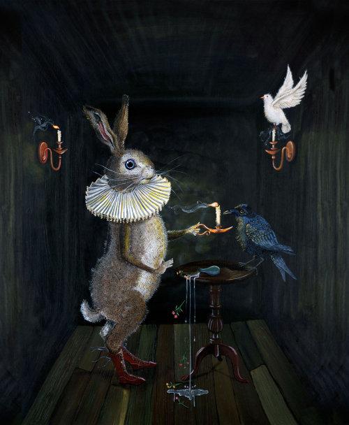 Illustration de la maison des animaux sombres