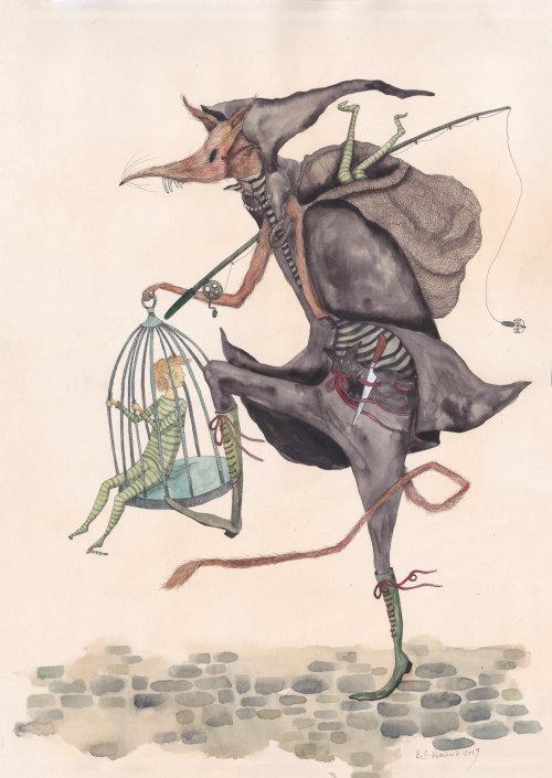La conception des personnages de Child Catcher