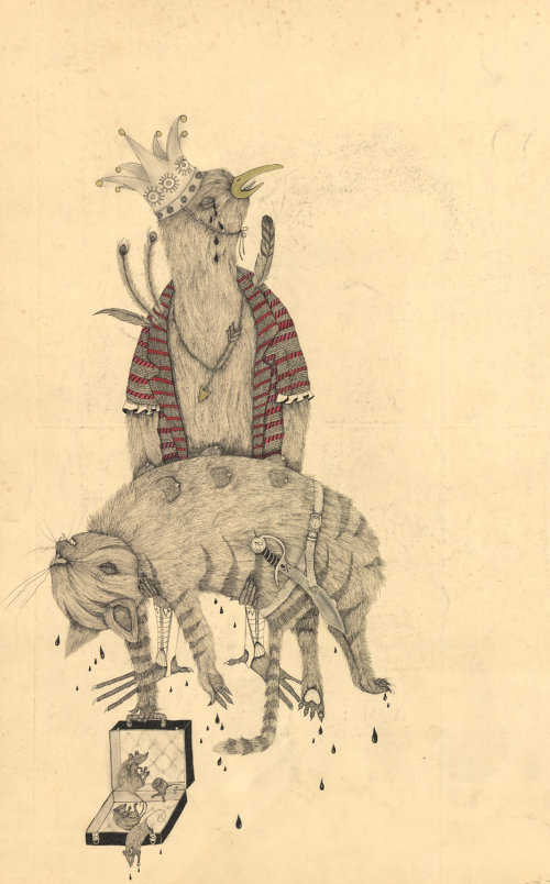 dead mice illustration