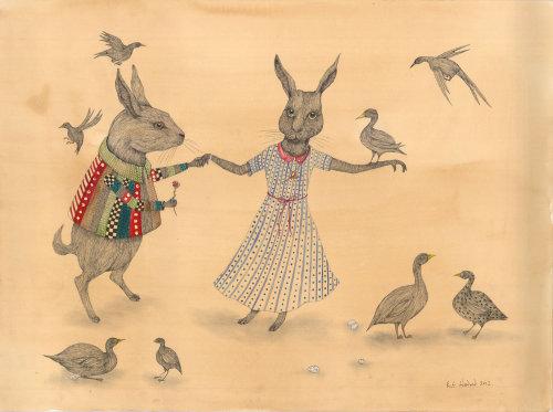 Illustration animale des amoureux de la souris
