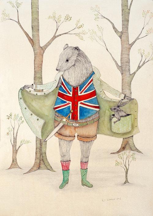 Conception de personnage de soldat anglais
