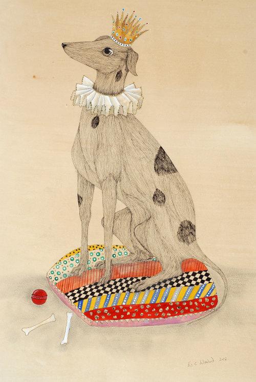 Dog illustration by Emily Carew Woodard