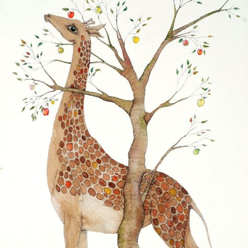 An illustration of giraffe