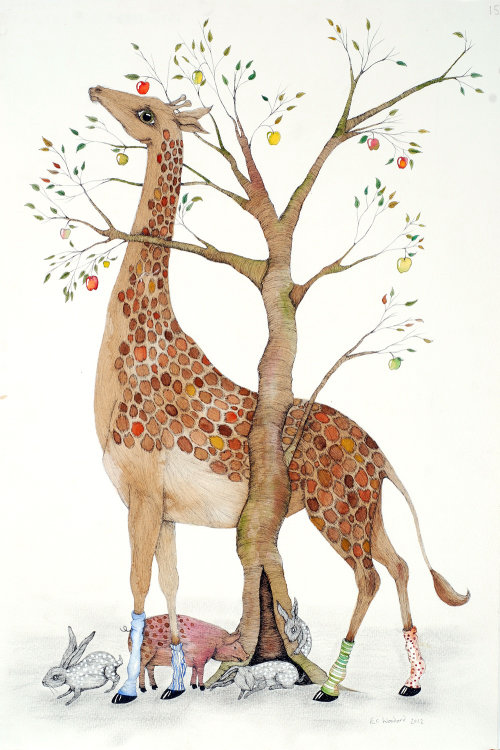 An illustration of giraffe