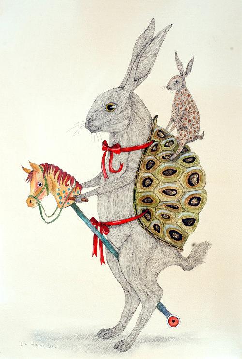 Illustration animale de la souris comique