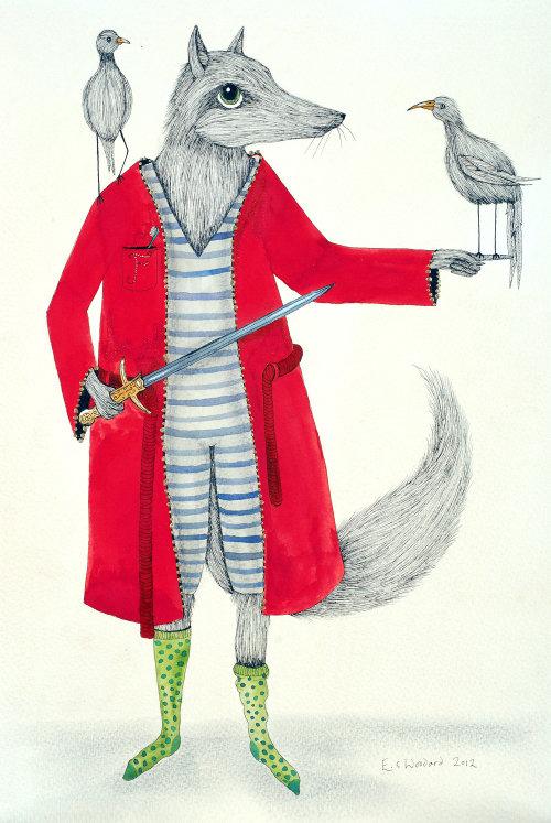Conception des personnages du guerrier souris