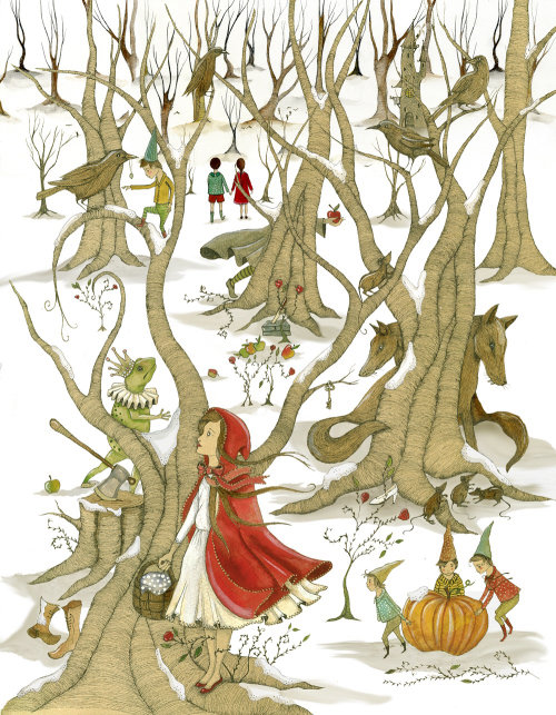 Book cover design of grimm's fairy tales for Vintage Books