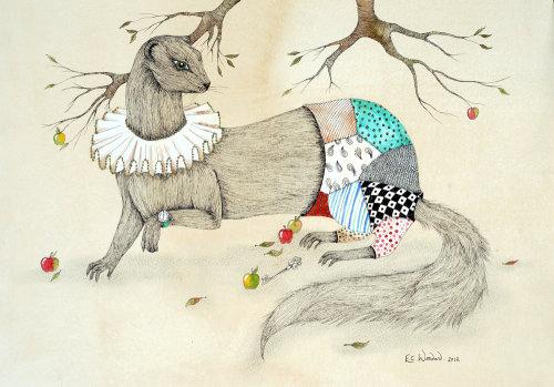 Illustration de fille animale