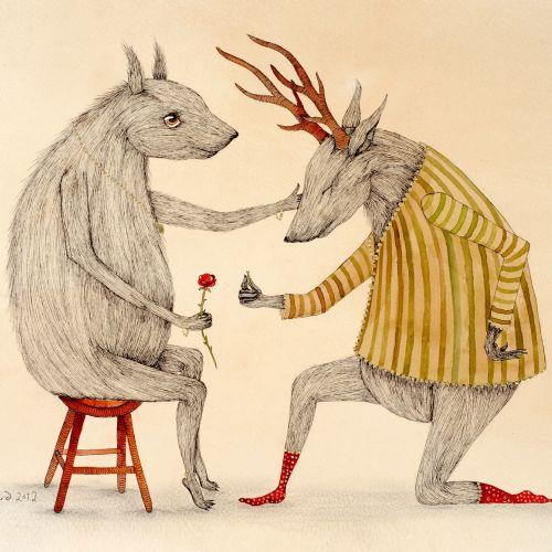 Emily Carew Woodard International Anthropomorphic fairytale illustrator. London