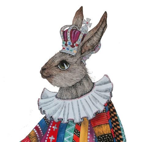 An illustration of rabbit head