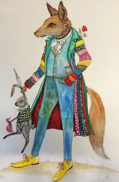 Illustration fantastique de l'homme lapin