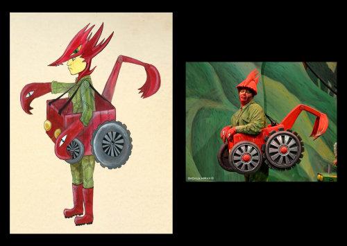 Conception des personnages de l'homme jouet