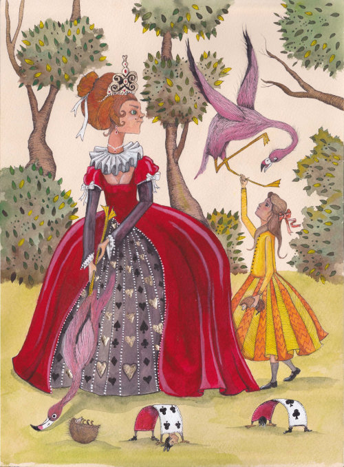 An illustration of princess playing with birds