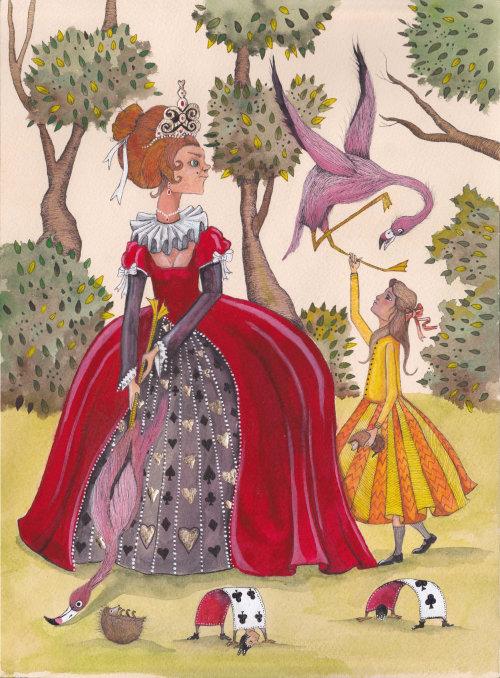 Uma ilustração da princesa brincando com pássaros