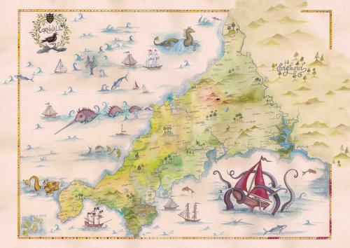 Uma ilustração de um mapa