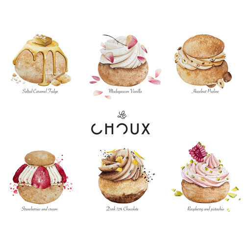 Design do menu para LeChoux London