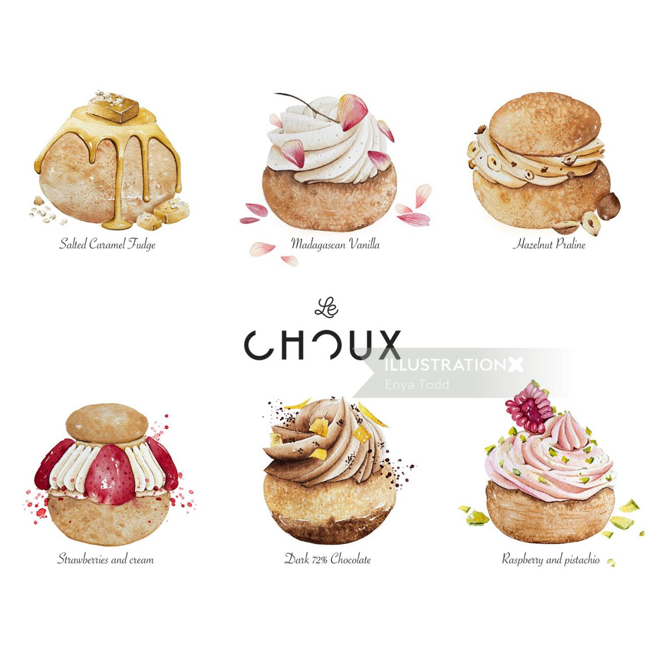 Menu design for LeChoux London