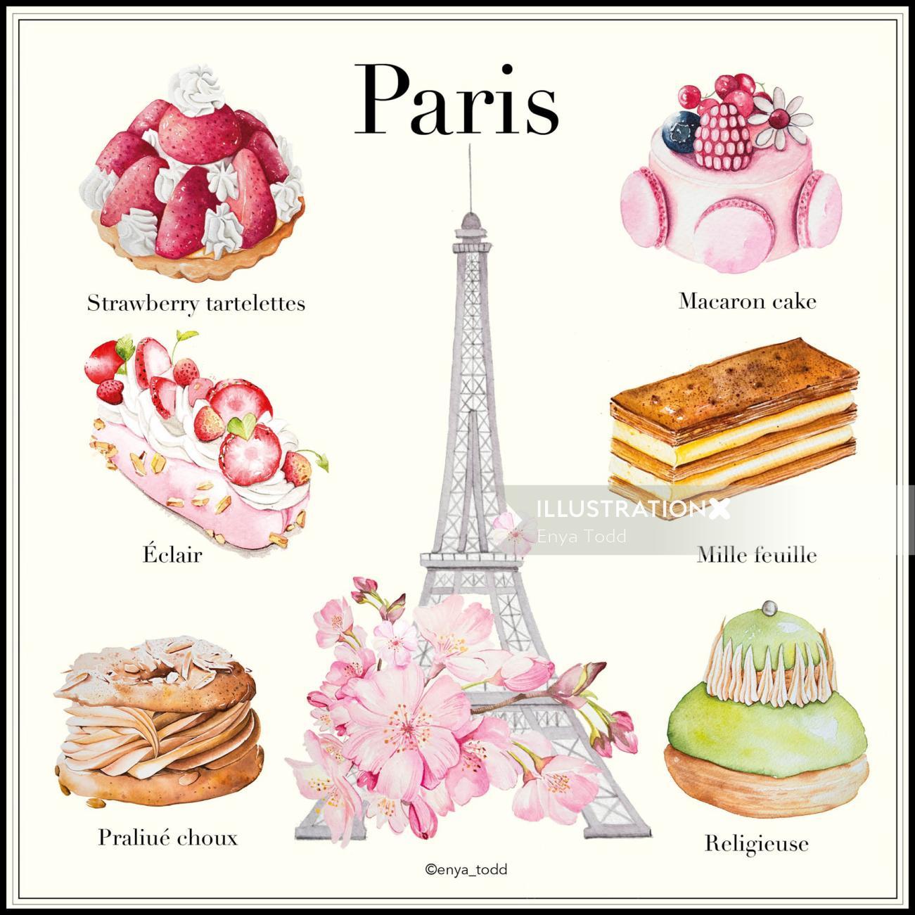 Contemporary art of Favorite desserts in Paris