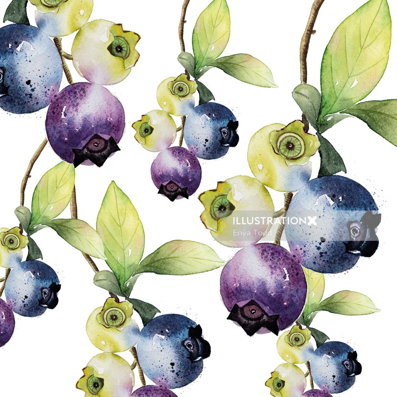Pattern design of Fruit Berries