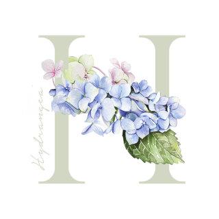 Stylistic Watercolour of Flower alphabet