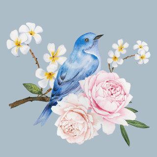 Watercolour of Blue Bird