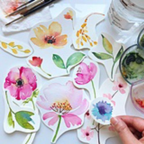 Paper cut design of flowers