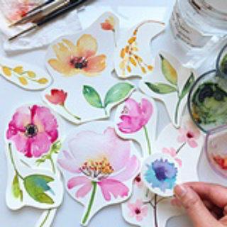 Paper cut design of flowers