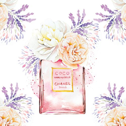 Watercolour of COCO CHANEL perfume