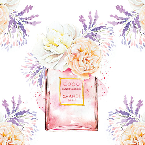 Aquarela do perfume COCO CHANEL