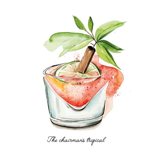 Loose drawing of Caribbean Cocktails