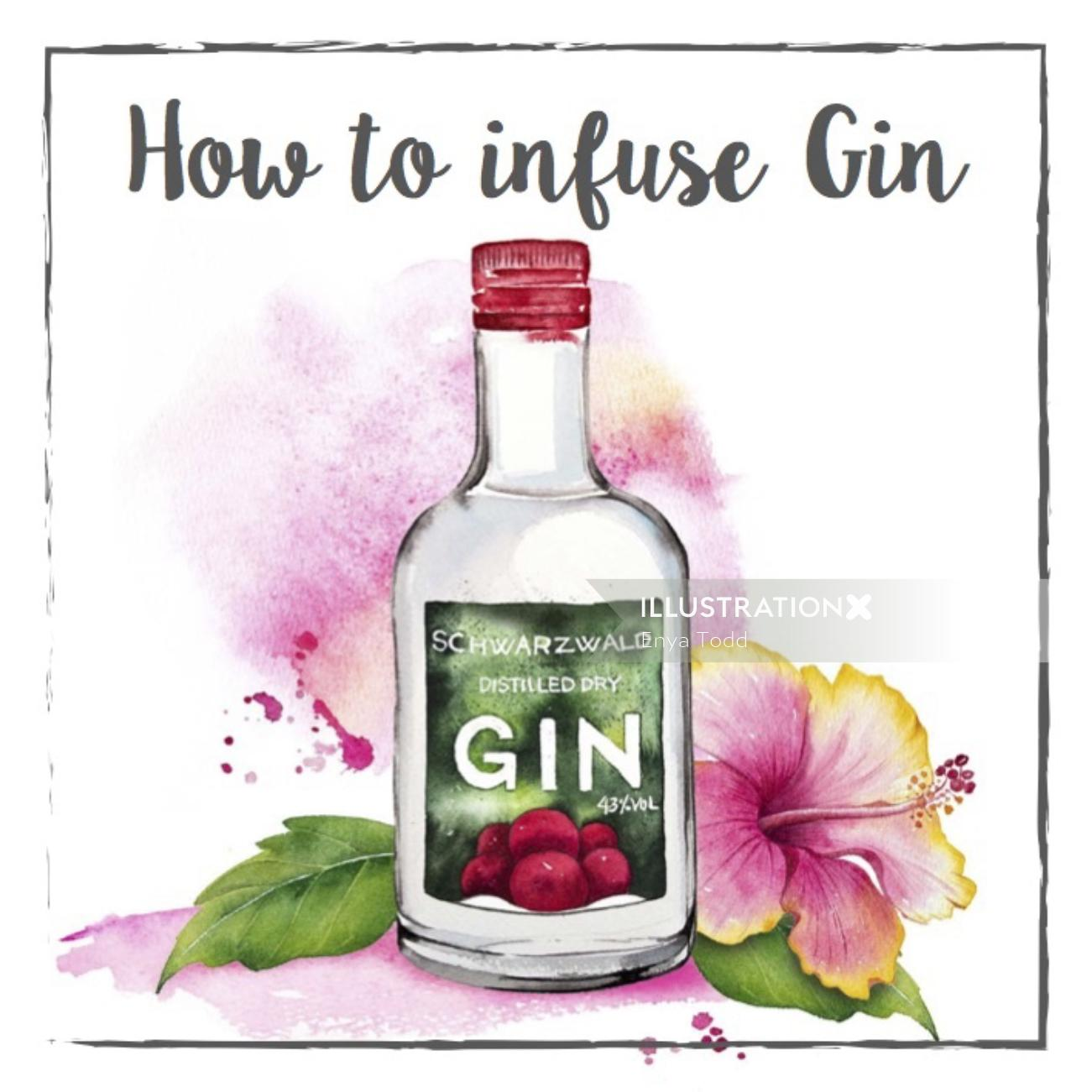 Illustration for Invitation How to infuse Gin