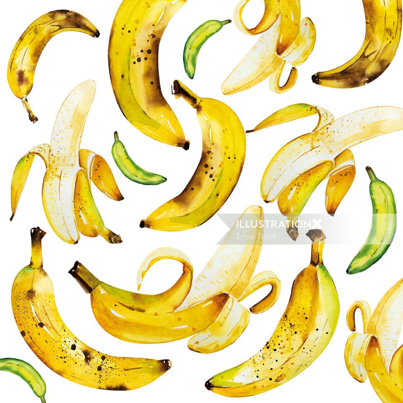 Banana Pattern Design