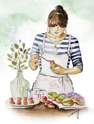 The Choux girl illustration
