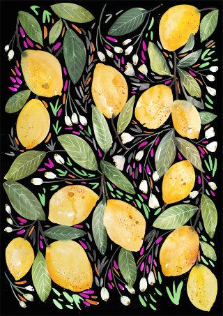 Pattern design of Lemon