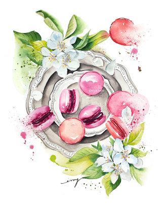 Macarons illustration
