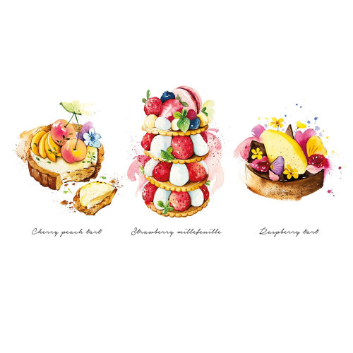 Patisserie illustration by Enya Todd