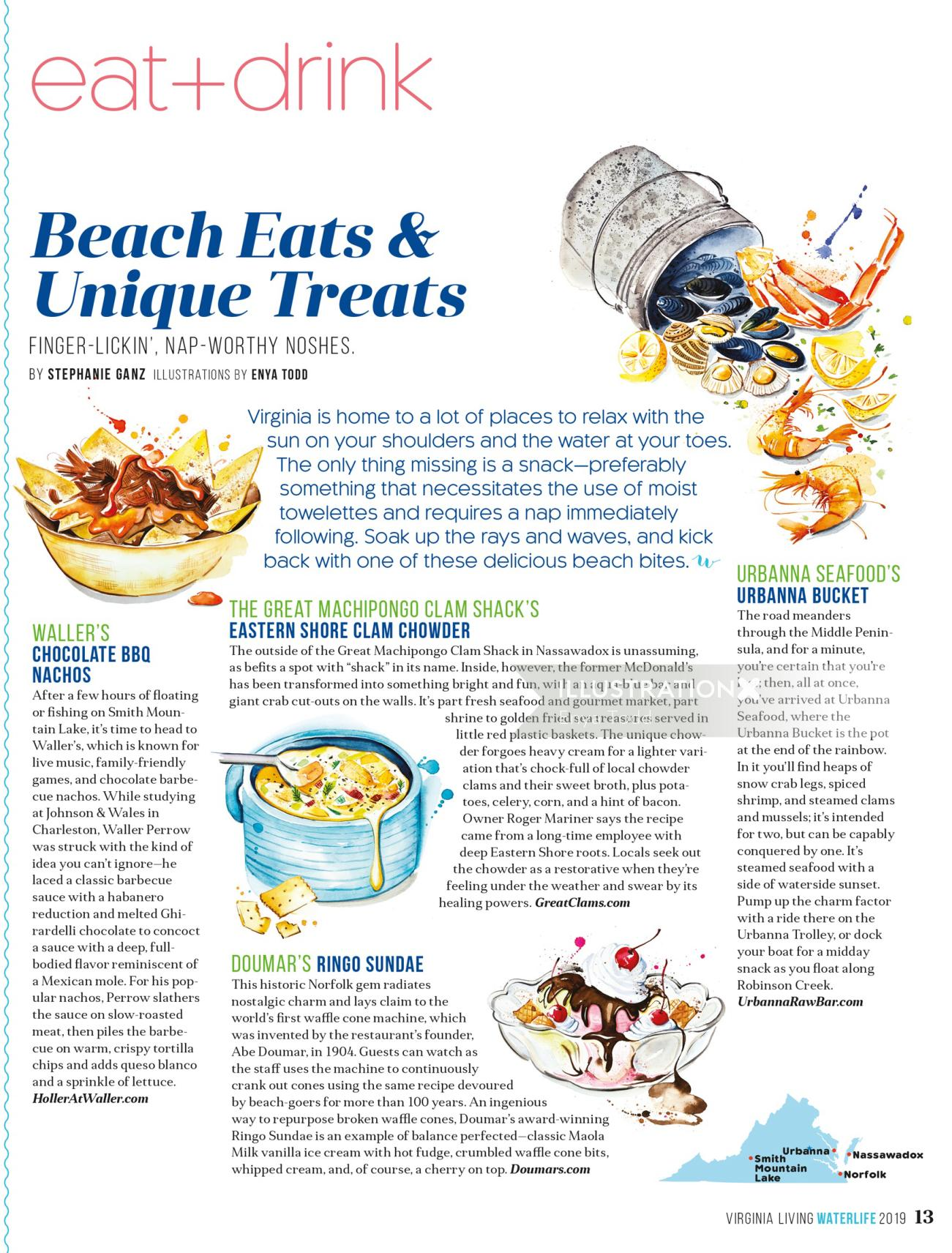 Editorial for Virginia Living Magazine