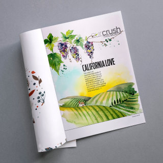 Editorial opening page for Wine Enthusiast July issue
