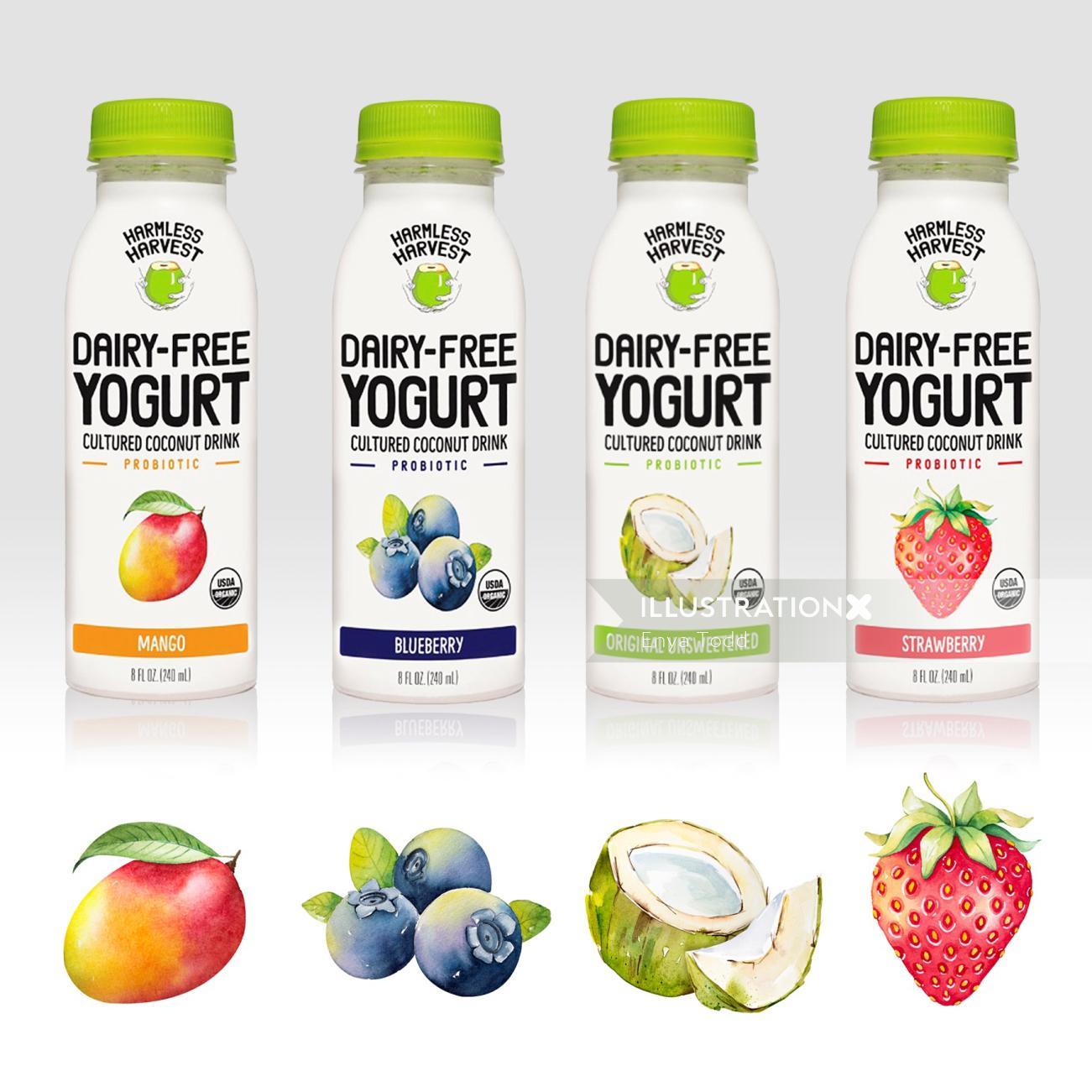 Harmless Harvest – Yogurt drinks