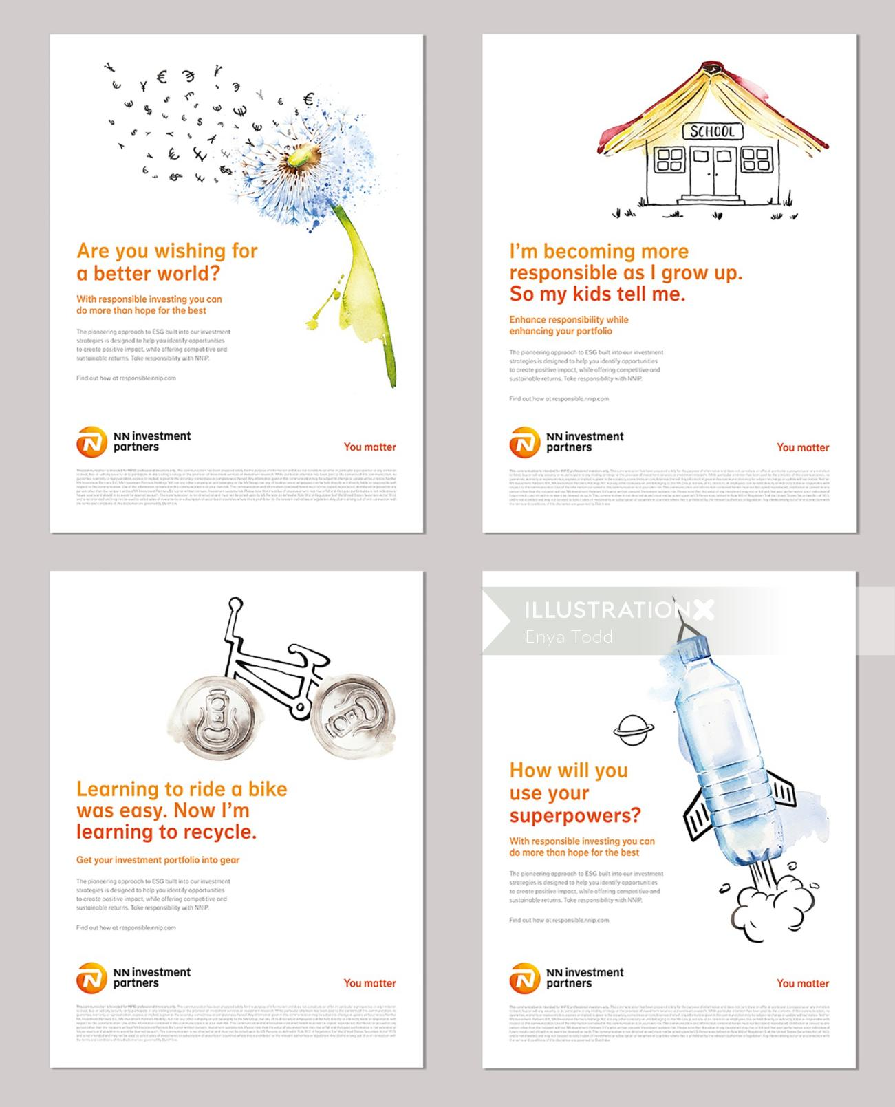 Influencing change campaign for The Netherlands based company (NNIP)