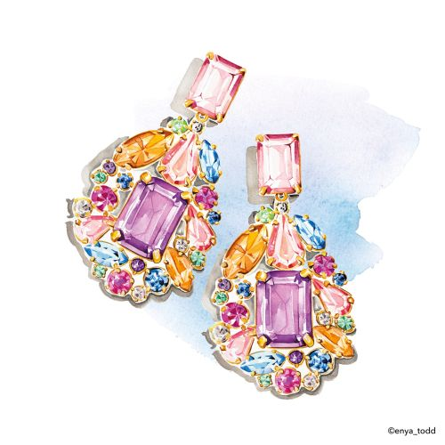 J crew earrings illustration